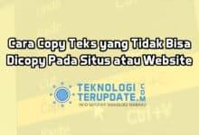 Cara Copy Teks yang Tidak Bisa Dicopy Pada Situs atau Website